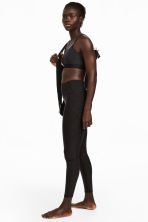 Yoga tights - Dark grey marl - Ladies | H&M 1