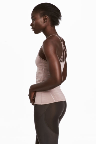Yoga top - Powder pink - Ladies | H&M CA 1