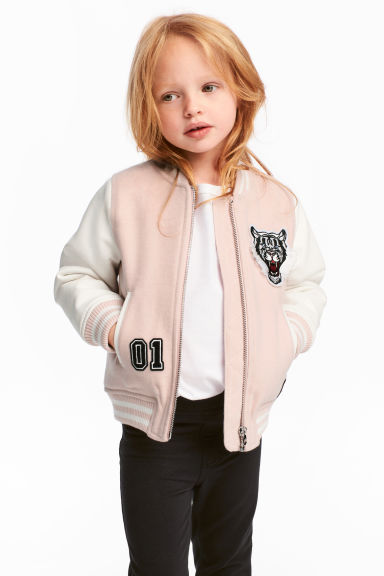 Baseball jacket - Light pink - Kids | H&M CA 1