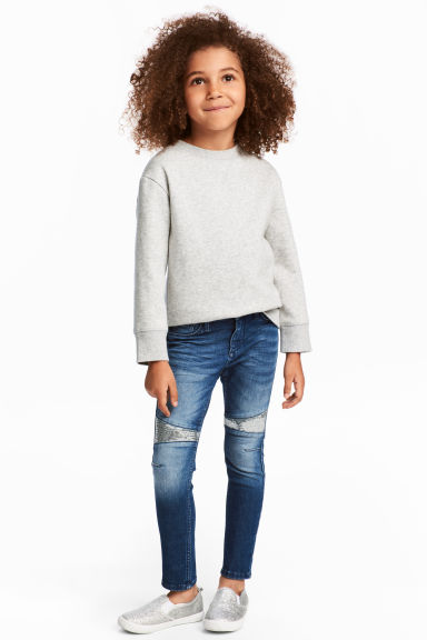 Skinny Fit Biker Jeans - Denimblauw - KINDEREN | H&M BE 1