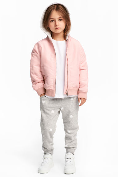 Joggers - Grey marl/Hearts - Kids | H&M CN 1