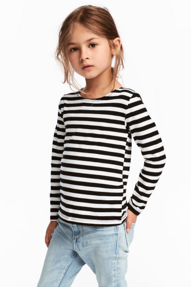 2-pack jersey tops - Black - Kids | H&M 1
