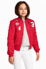 Padded Bomber Jacket - Red - Kids | H&M CA 1