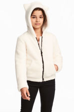 Hooded Fleece Jacket - Natural white - Kids | H&M CA 1