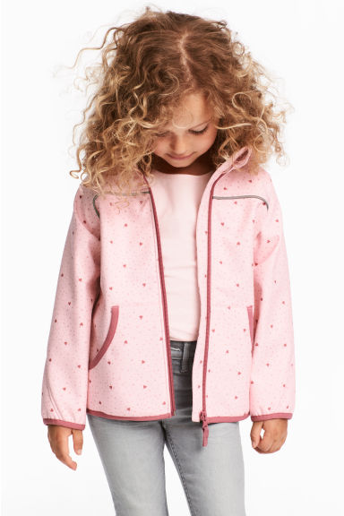 Softshell jacket - Light pink/Heart - Kids | H&M