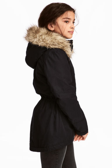 Padded parka - Black - Kids | H&M