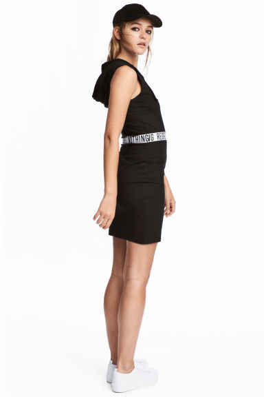 Hooded dress - Black - Ladies | H&M 1