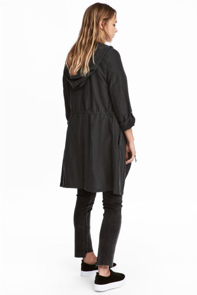 Hooded parka - Black - Ladies | H&M 1