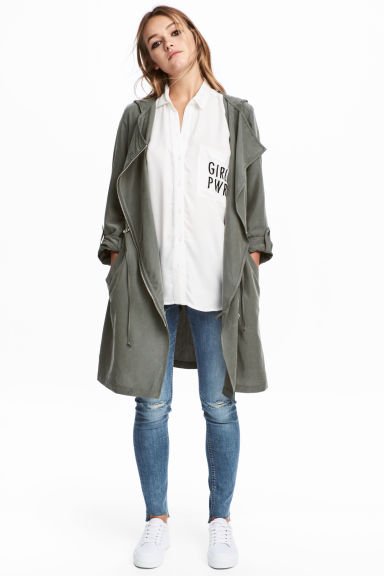 Hooded parka - Khaki green - Ladies | H&M 1