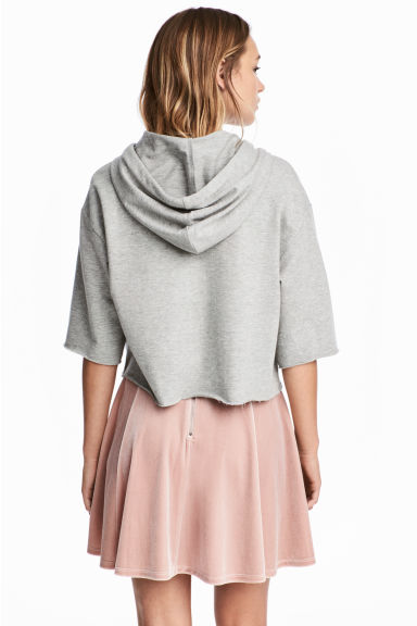 Circular skirt - Powder pink/Velour - Ladies | H&M 1