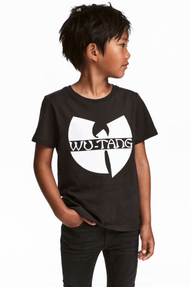 Printed T-shirt - Black/Wu-Tang Clan - Kids | H&M CN 1