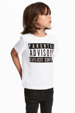 T-shirt met print - Wit/Parental Advisory -  | H&M BE 1