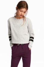 Printed sweatshirt - Light grey marl - Kids | H&M 1