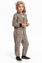 Fleece all-in-one suit - Leopard-print - Kids | H&M 1