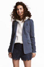 Fitted jacket - Blue-grey - Ladies | H&M CA 1