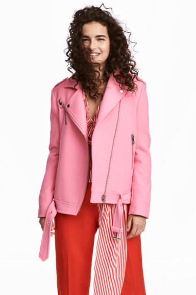 Biker jacket - Pink - Ladies | H&M 1