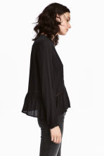 Blouse with lace details - Black - Ladies | H&M 1