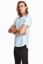 Short-sleeved running top - Light blue - Men | H&M CA 1
