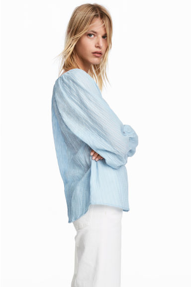 Cotton blouse - Light blue - Ladies | H&M