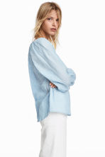 Cotton blouse - Light blue - Ladies | H&M CA 1