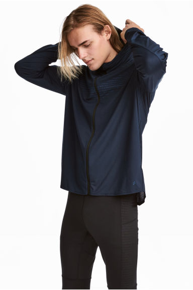 Running jacket - Dark blue - Men | H&M CN 1