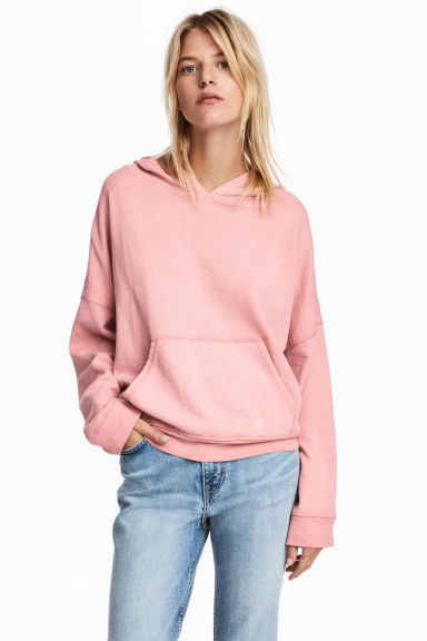 Hooded top - Light pink - Ladies | H&M 1