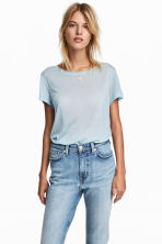 Lyocell top - Light blue marl - Ladies | H&M CN 1