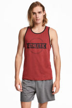 Sports vest top - Rust red - Men | H&M 1
