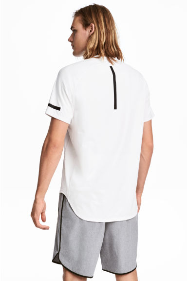 Short-sleeved sports top - White - Men | H&M CA 1