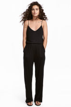 Jersey jumpsuit - Black - Ladies | H&M 1