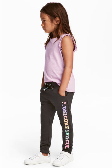 Sweatpants - Black/Text print - Kids | H&M 1
