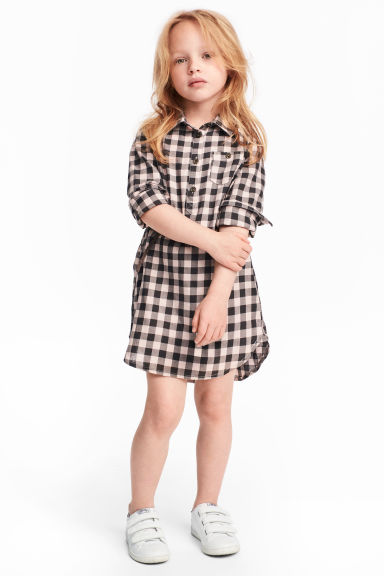 Shirt dress - Light pink/Checked - Kids | H&M CA 1