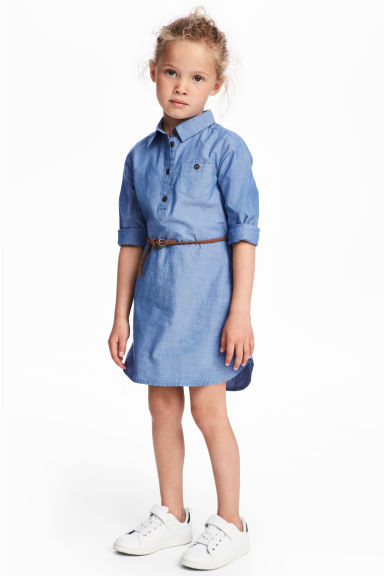 Shirt dress - Blue/Chambray - Kids | H&M CN 1