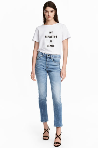 Slim High Ankle Jeans - Helles Denimblau - DAMEN | H&M CH
