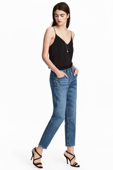 Boyfriend Low Ripped Jeans - Blu denim - DONNA | H&M IT