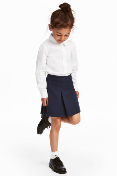 Pleated skirt - Dark blue - Kids | H&M