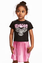 Printed jersey top - Black/Eagle - Kids | H&M 1