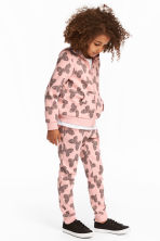 Joggers - Light pink/Butterflies - Kids | H&M CN 1
