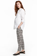 MAMA Patterned trousers - White/Patterned - Ladies | H&M 1