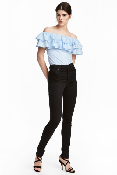 Shaping Skinny High Jeans - Black/No fade black - Ladies | H&M CN 1