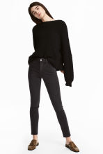 Skinny High Ankle Jeans - Dark grey denim - Ladies | H&M CA 1
