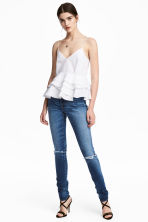 Skinny High Waist Jeans - Denim blue trashed - Ladies | H&M 1