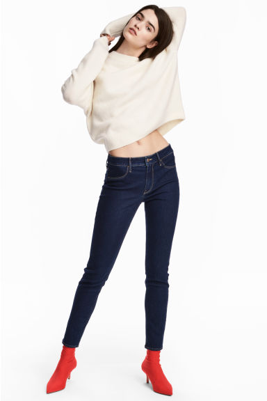 Skinny Regular Ankle Jeans - Dark denim blue - Ladies | H&M GB 1