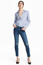 Skinny Regular Ankle Jeans - Denim blue trashed - Ladies | H&M 1
