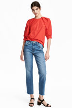 Straight High Ankle Jeans - 丹寧藍 -  | H&M 1
