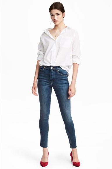 Skinny High Ankle Jeans Modelo