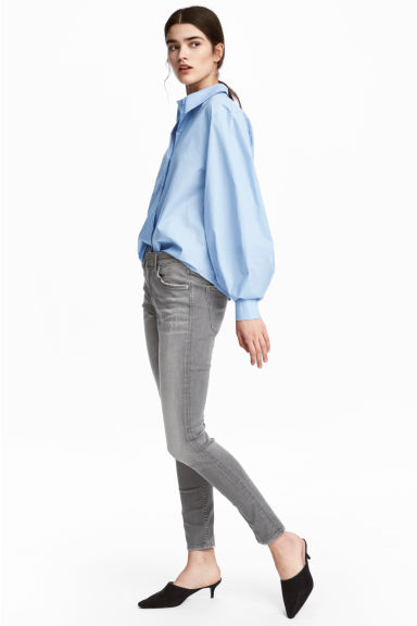 Skinny Regular Ankle Jeans - Denim grigio - DONNA | H&M IT
