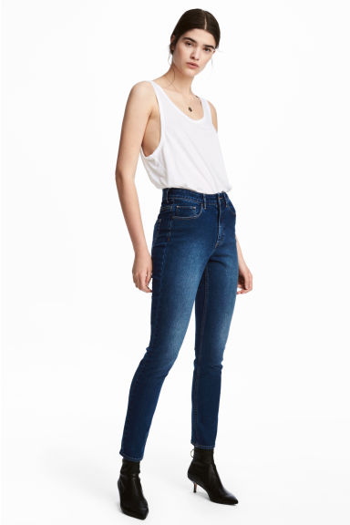 Skinny High Ankle Jeans - Donker denimblauw - DAMES | H&M BE 1