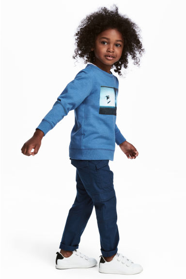 Cotton cargo pants - Dark blue - Kids | H&M 1