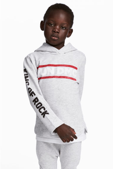 Sweat à capuche - Gris clair/RUN DMC -  | H&M FR